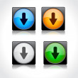 Buttons for web. Vector. — Image vectorielle