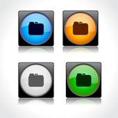 Web 用のボタン。ベクトル. — ストックベクタ