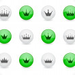 Stock Vector: Buttons with crowns