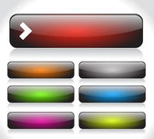 Buttons for web. Vector. — 图库矢量图片