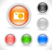 用于 web 的按钮。矢量. — 图库矢量图片