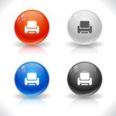Web için düğmeleri. — Stok Vektör