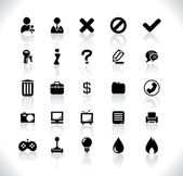 Black icons for web — Stock Vector