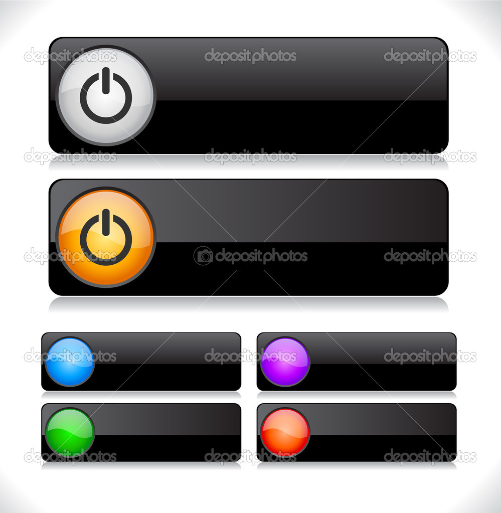 Buttons for web. Vector illustration. — Stock Vector #5320109
