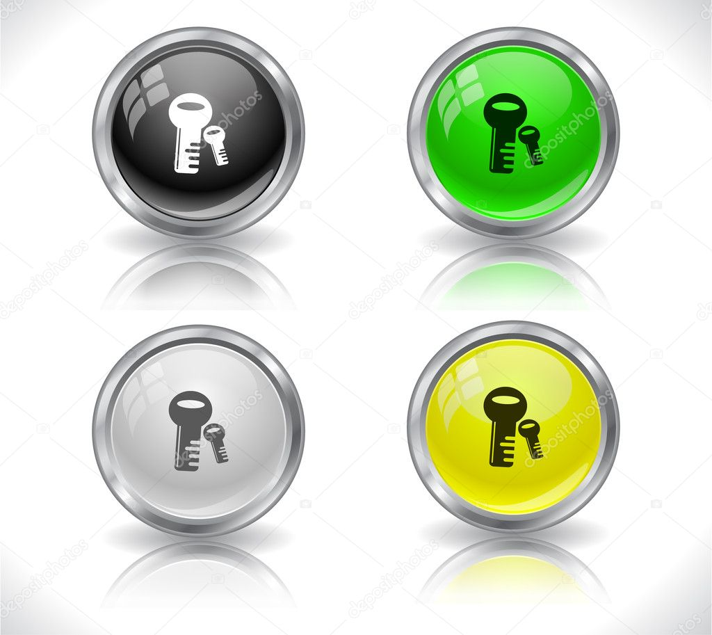 Buttons for web. Vector illustration. — Stock Vector #5327336