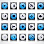 Media buttons. — Stock Vector