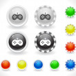 Royalty-Free Stock Vector Image: Buttons for web.