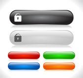 кнопки для веб — Cтоковый вектор