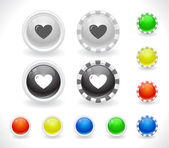 Buttons for web. — Vector de stock