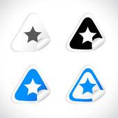 Stickers for web. Vector. — Vector de stock