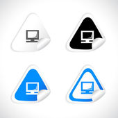 Stickers for web. Vector. — Stock Vector