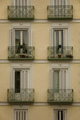 Apartment house windows — Stockfoto