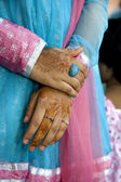 Hands of the Indian girl — Stock Photo