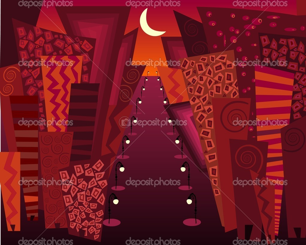 City at night  — Stock Vector #5131703