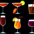 Cocktail glass set — Stock Vector #5316528