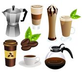 Koffie vector set — Stockvector