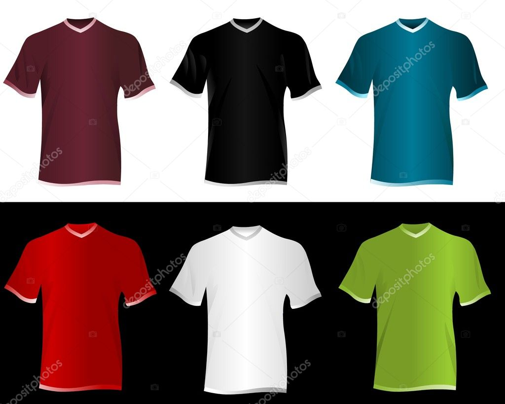 T-shirt vector set  Stock Vector #5316545