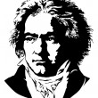 Ludwig van Beethoven — Stock Vector