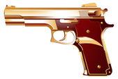 Golden Gun — Stock Vector