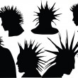 Punk hairstyle - Stock Vector