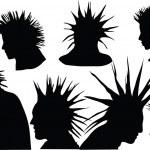 Постер, плакат: Punk hairstyle