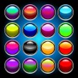 Royalty-Free Stock Obraz wektorowy: Colorful glass buttons