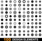 100 design elements — Stockvektor