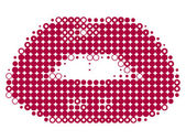 Pixelated lips — Stock Vector