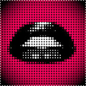Labbra nere — Vettoriale Stock