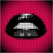 黒い唇 — ストックベクタ