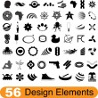 56 design elements — Vector de stock #5209397