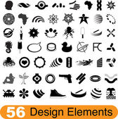 56 design elements — Stock Vector