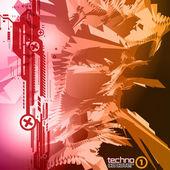 Techno CD cover 1 — Stock Vector