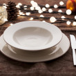 Christmas place settings — Stock Photo #5141857