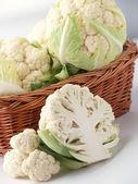 Cauliflowers In Basket — Stock Photo