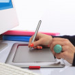 graphic tablet — Stock Photo
