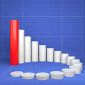 Diagram of improvement, chart of dependence — Stock Photo