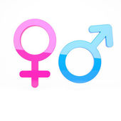 Male and female signs — Stock Photo