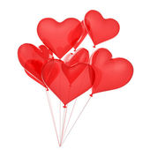 Copula of balloons as red hearts — Stock Photo