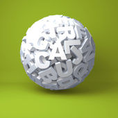 Ball from letters — Stock Photo