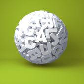 Piłka z liter — Zdjęcie stockowe