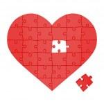 hjärtat av pussel — Stockfoto