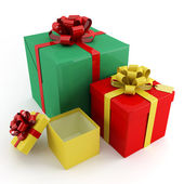 Boxes for gifts — Stock Photo