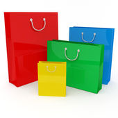 Four colored bags — Stock Photo