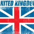 Royalty-Free Stock Vector Image: United Kingdom grunge flag