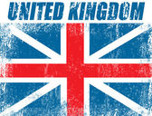 United Kingdom grunge flag — Stock Vector