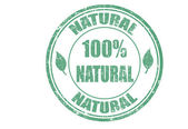 100% natural stamp — Stock Vector