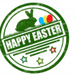 Stock Vector: Happy easter stamp
