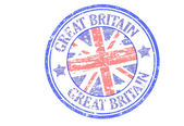 Great britain stamp — Stock Vector