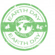 Stock Vector: Earth day stamp